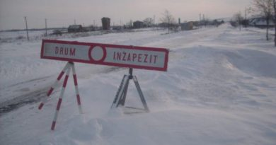 8 drumuri închise temporar
