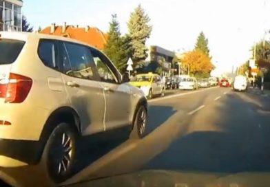 VIDEO. S-a întâmplat în Gorj. Șoferiță cu tupeu de BMW