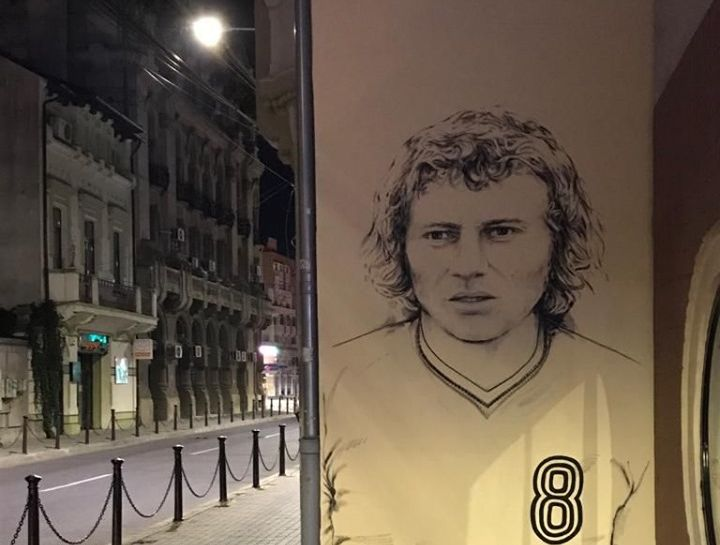 Portretul celui mai mare artist al Olteniei vis-à-vis de Muzeul de Artă!