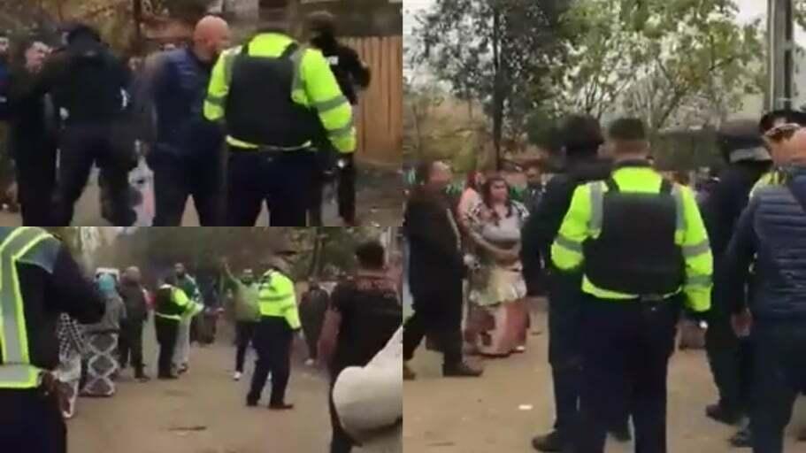 VIDEO: Polițiști bătuți crunt și lăsați fără pistoale!