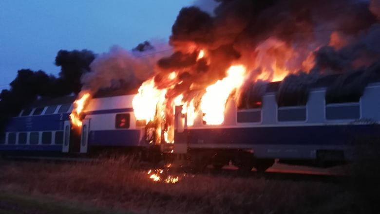 incendiu in tren