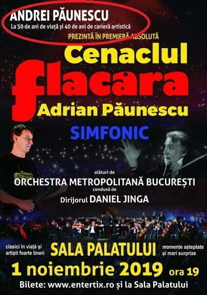 Fiul lui Adrian Păunescu și-a adus un vibrant omagiu la Sala Palatului