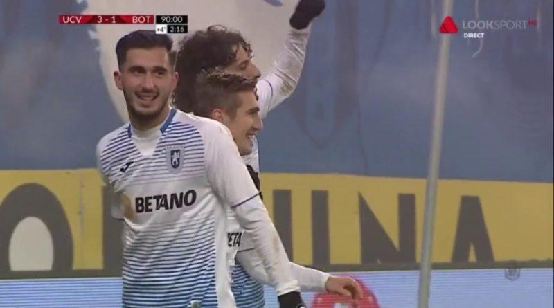 Craiova - Botosani 3-1. Piti e sef pe teren propriu