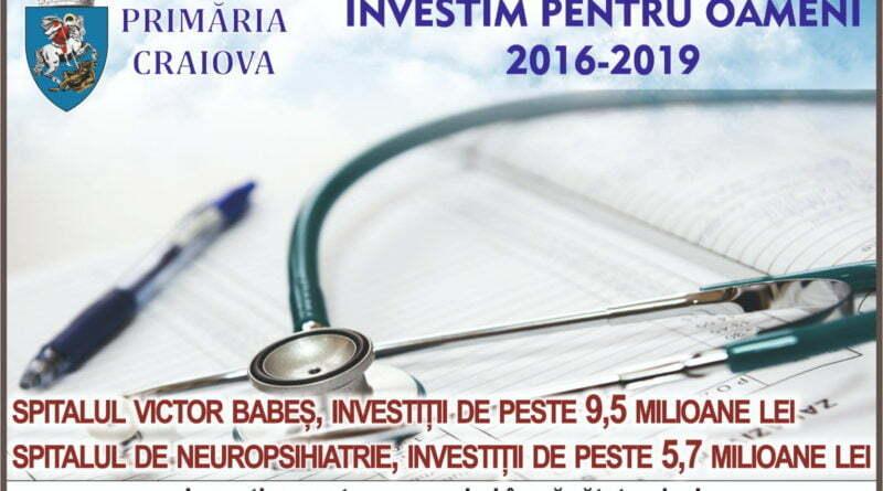 Primaria Craiova, investitii in sanatate