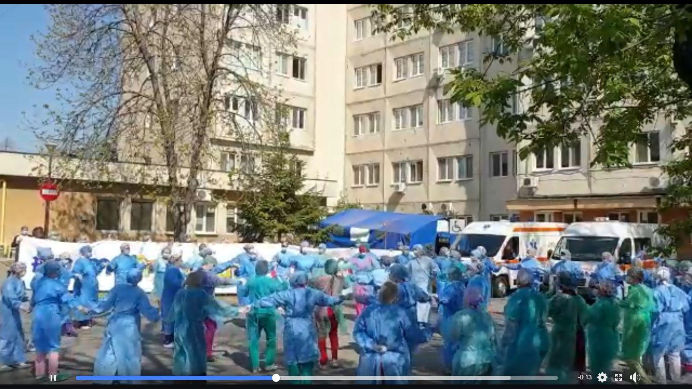 VIDEO! Hora victoriei la Spitalul de Infecțioase din Craiova!