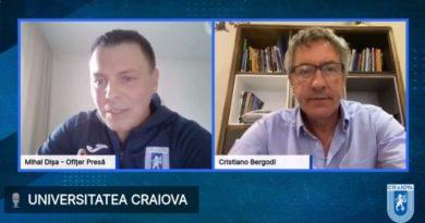Cristiano Bergodi prezentat oficial de Universitatea Craiova