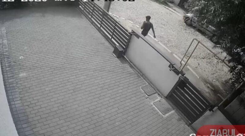 VIDEO: Craiovean tâlhărit în fața casei!