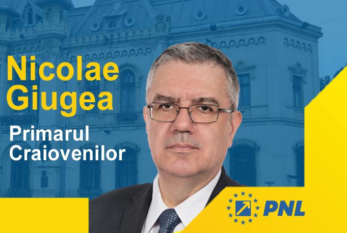 Nicolae Giugea PNL alegeri Primaria Craiova