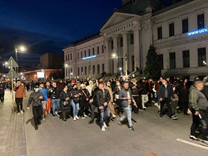 protest in Craiova
